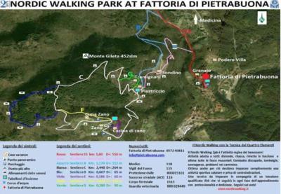 Nordic walking in Tuscany