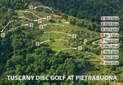 Disc golf in Tuscany